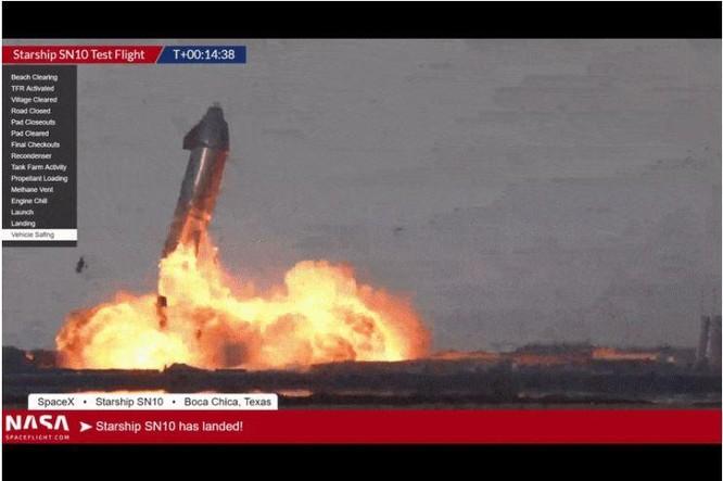 Starship của SpaceX lần đầu tiên hạ cánh thành công ảnh 1