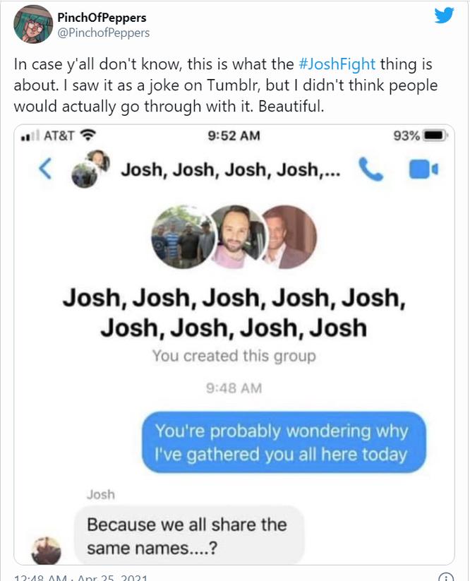 Cuộc chiến điên rồ của những người tên Josh và câu chuyện nhân văn đằng sau đó ảnh 1