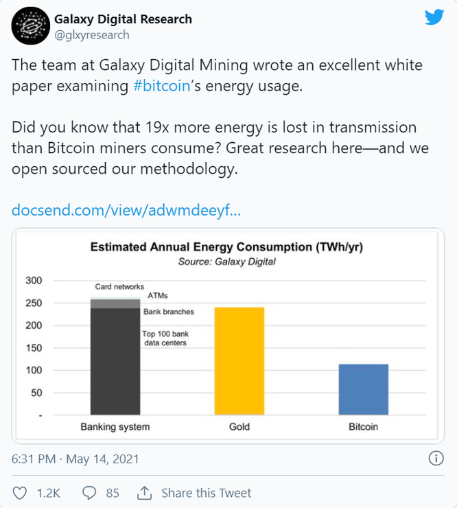 Nghiên cứu mới cho thấy việc khai thác Bitcoin sử dụng ít năng lượng hơn ngân hàng truyền thống ảnh 1