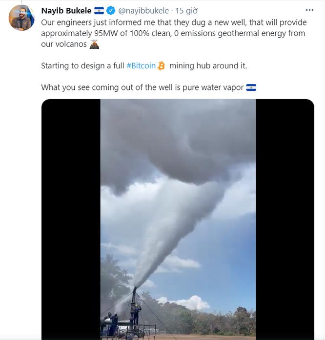 Tổng thống El Salvador muốn đào Bitcoin bằng năng lượng núi lửa ảnh 1