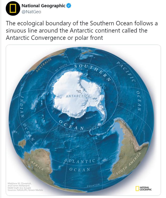 Hiệp hội Địa lý quốc gia Mỹ: Trái đất có thêm một đại dương mới ảnh 1