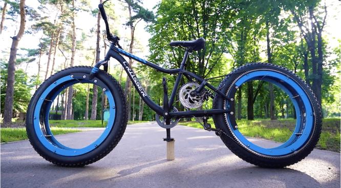 Xe đạp không trục, không nan hoa độc đáo ảnh 1