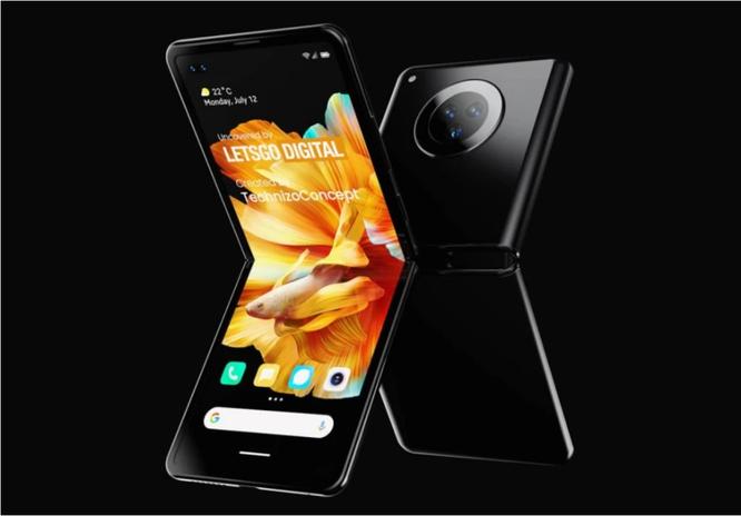 Những hình ảnh đầu tiên về chiếc smartphone màn hình gập dọc của Xiaomi ảnh 1