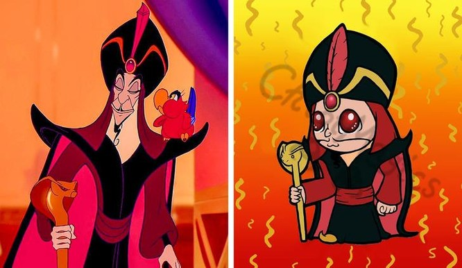 Tái hiện các nhân vật phản diện của Disney qua nét vẽ chibi ngộ nghĩnh ảnh 10