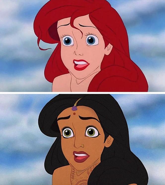 """Những nàng công chúa Disney """"lạ lẫm"""" trong phong cách hoàn toàn mới ảnh 12"""