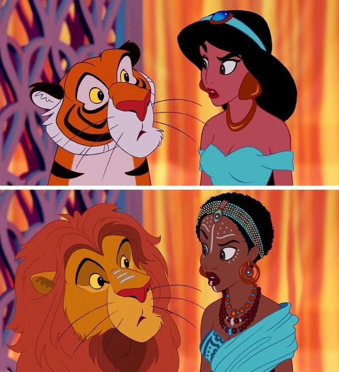 """Những nàng công chúa Disney """"lạ lẫm"""" trong phong cách hoàn toàn mới ảnh 9"""