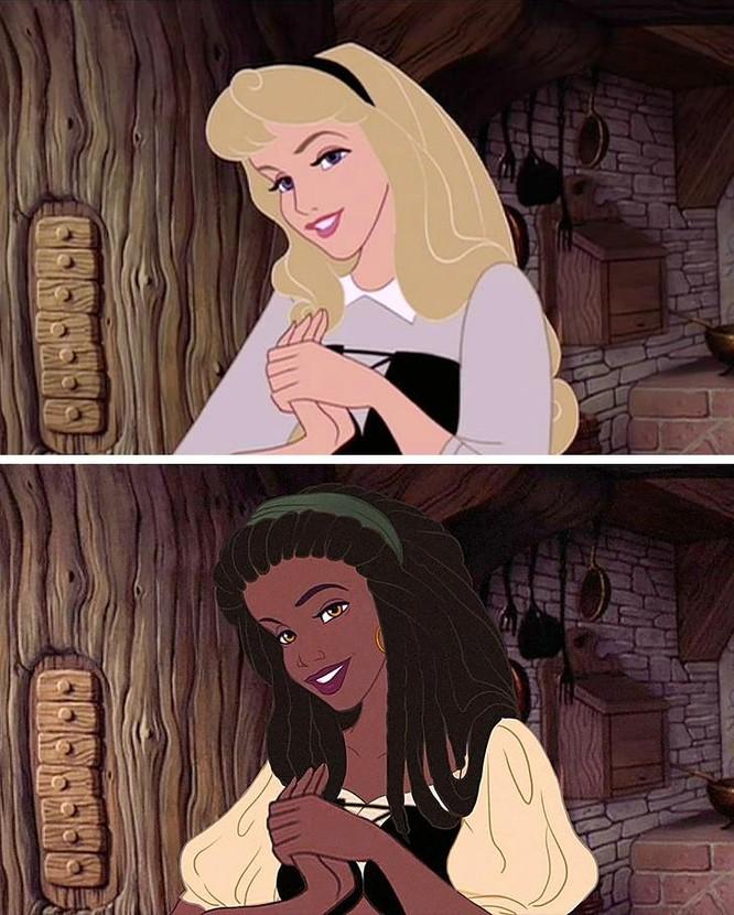 """Những nàng công chúa Disney """"lạ lẫm"""" trong phong cách hoàn toàn mới ảnh 4"""