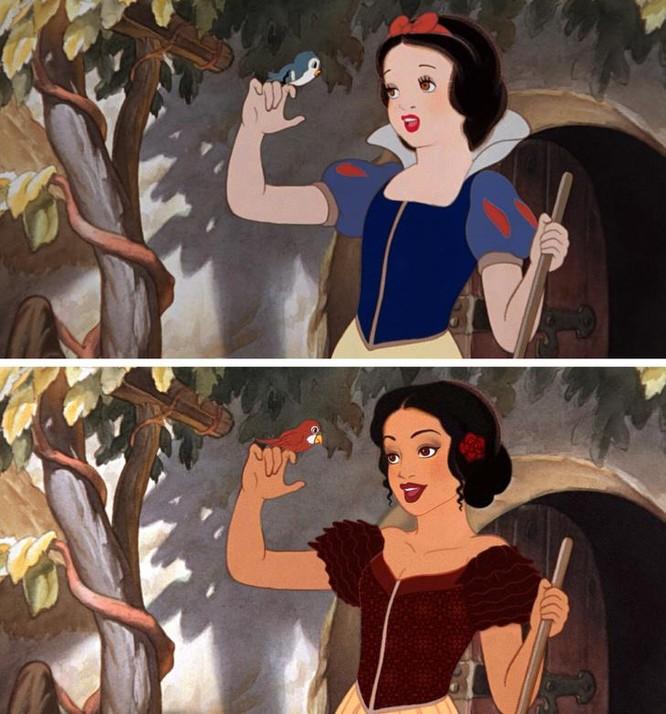 """Những nàng công chúa Disney """"lạ lẫm"""" trong phong cách hoàn toàn mới ảnh 7"""