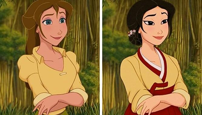 """Những nàng công chúa Disney """"lạ lẫm"""" trong phong cách hoàn toàn mới ảnh 5"""