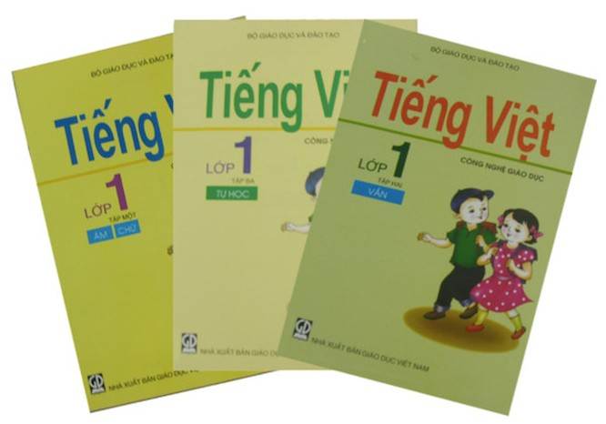 Bộ sách giáo khoa lớp 1 của Giáo sư Hồ Ngọc Đại đã được gần 1 triệu học sinh trong cả nước sử dụng trong học tập trong năm học 2018-2019. Ảnh Báo Tiền Phong 2019