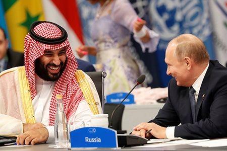 Thái tử Mohammed Bin Salman và Tổng thống Nga V.Putin trao đổi thân tình tại Thượng đỉnh G-20 tại Buenos Aires tháng 12/2018. (Ảnh Reuters).