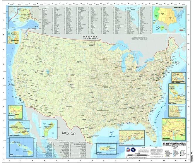 Hệ thống căn cứ quân sự của Mỹ trên thế giới (Ảnh: Wikipedia)