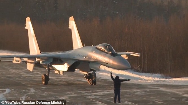 Nga đã điều chiến đấu cơ Su-35 tới ứng trực ở biên giới phía tây