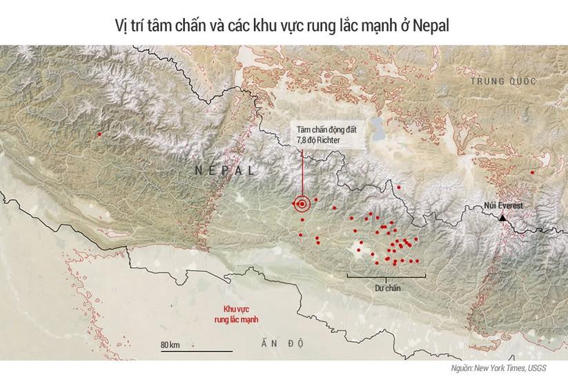 Gần 2.300 người thiệt mạng sau động đất ở Nepal ảnh 1