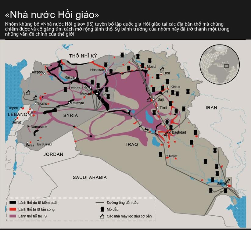 Nhóm khủng bố IS: Binh lực và lãnh thổ chiếm cứ ra sao ảnh 1