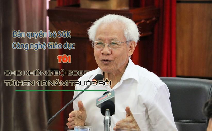 8 phát ngôn ấn tượng của GS. Hồ Ngọc Đại trong buổi gặp gỡ báo chí ảnh 2