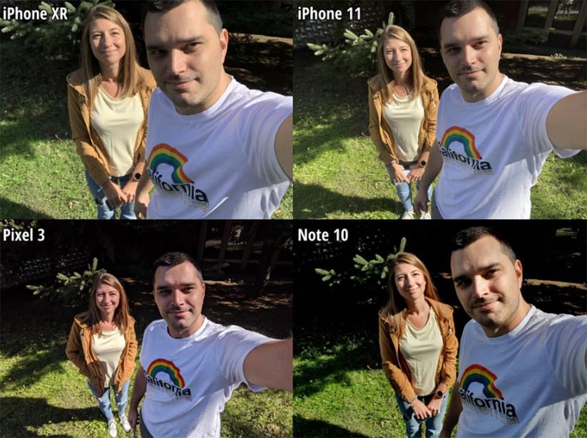 """So sánh khả năng chụp Selfie giữa iPhone 11, Galaxy Note 10, iPhone XR và Pixel 3: Ai là """"vua chụp selfie""""? ảnh 2"""