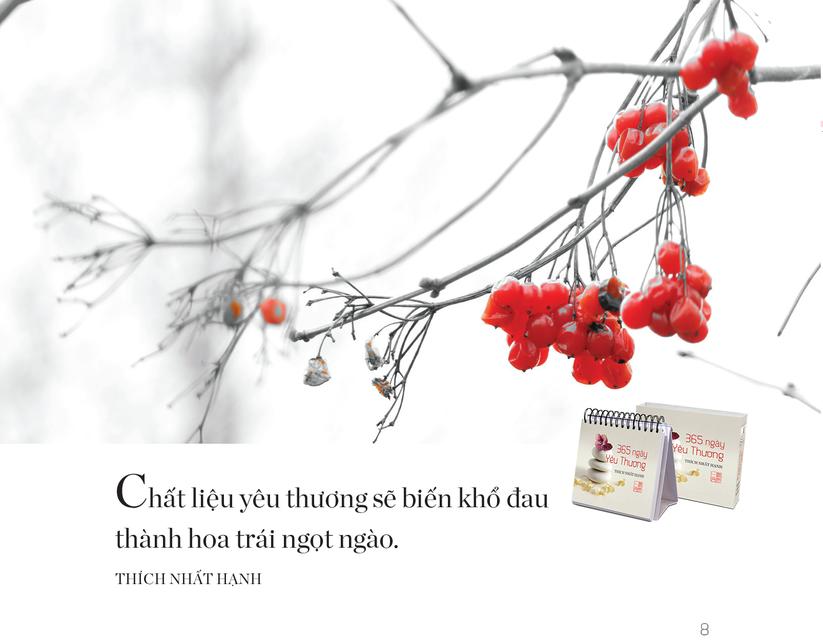 """Đón năm mới với bộ sách để bàn đầu tiên của Thiền sư Thích Nhất Hạnh """"365 ngày an lạc, yêu thương"""" ảnh 5"""