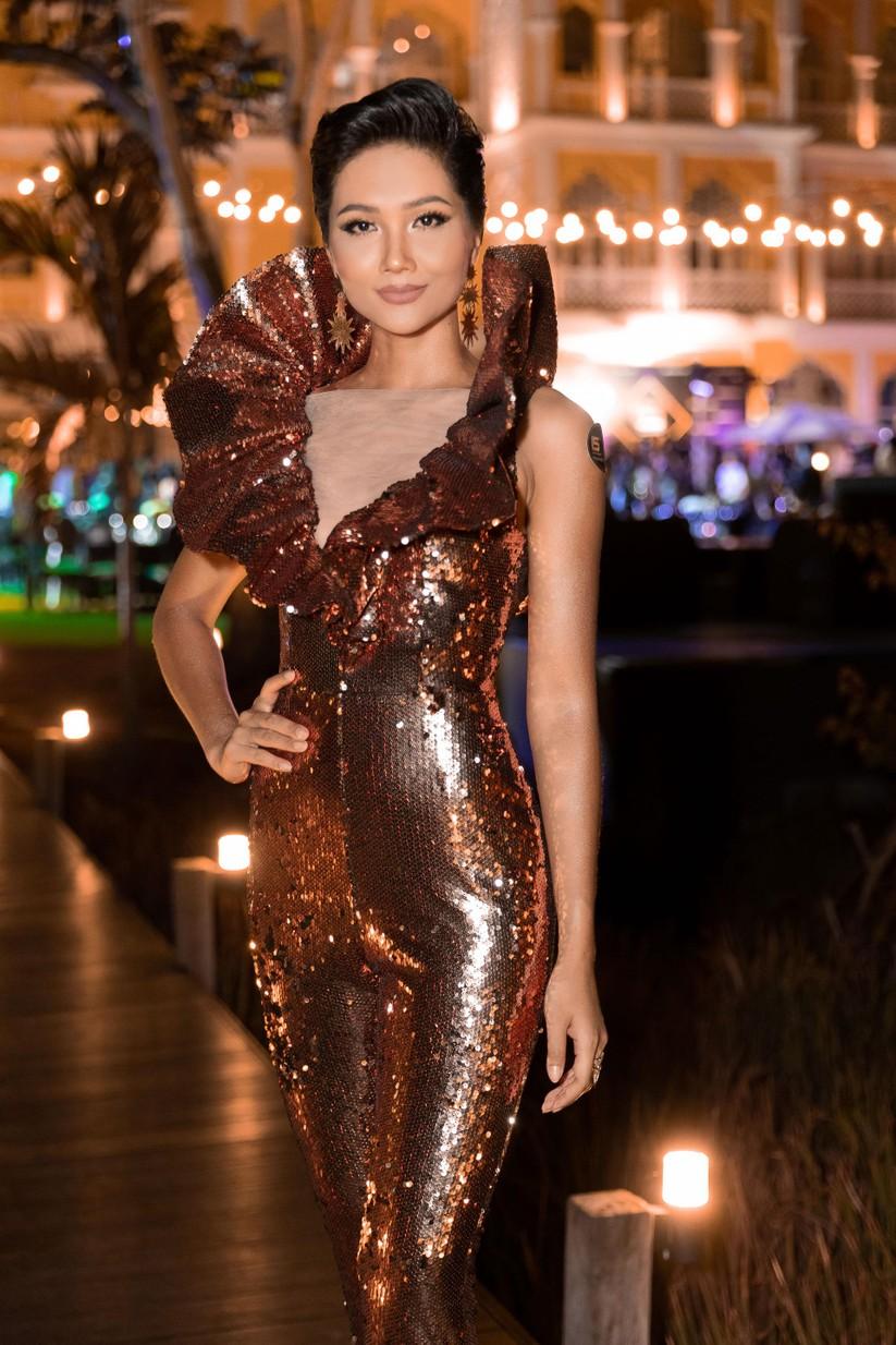 Hoa hậu H'Hen Niê bất ngờ diện chiếc váy từng gây tranh cãi tại Miss Universe ảnh 7