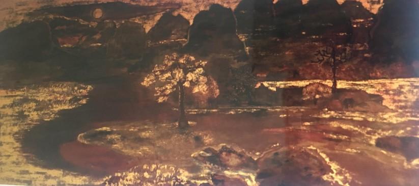 """Bức """"Tranh phong cảnh"""" của danh họa Nguyễn Gia Trí vẫn đang rao bán"""