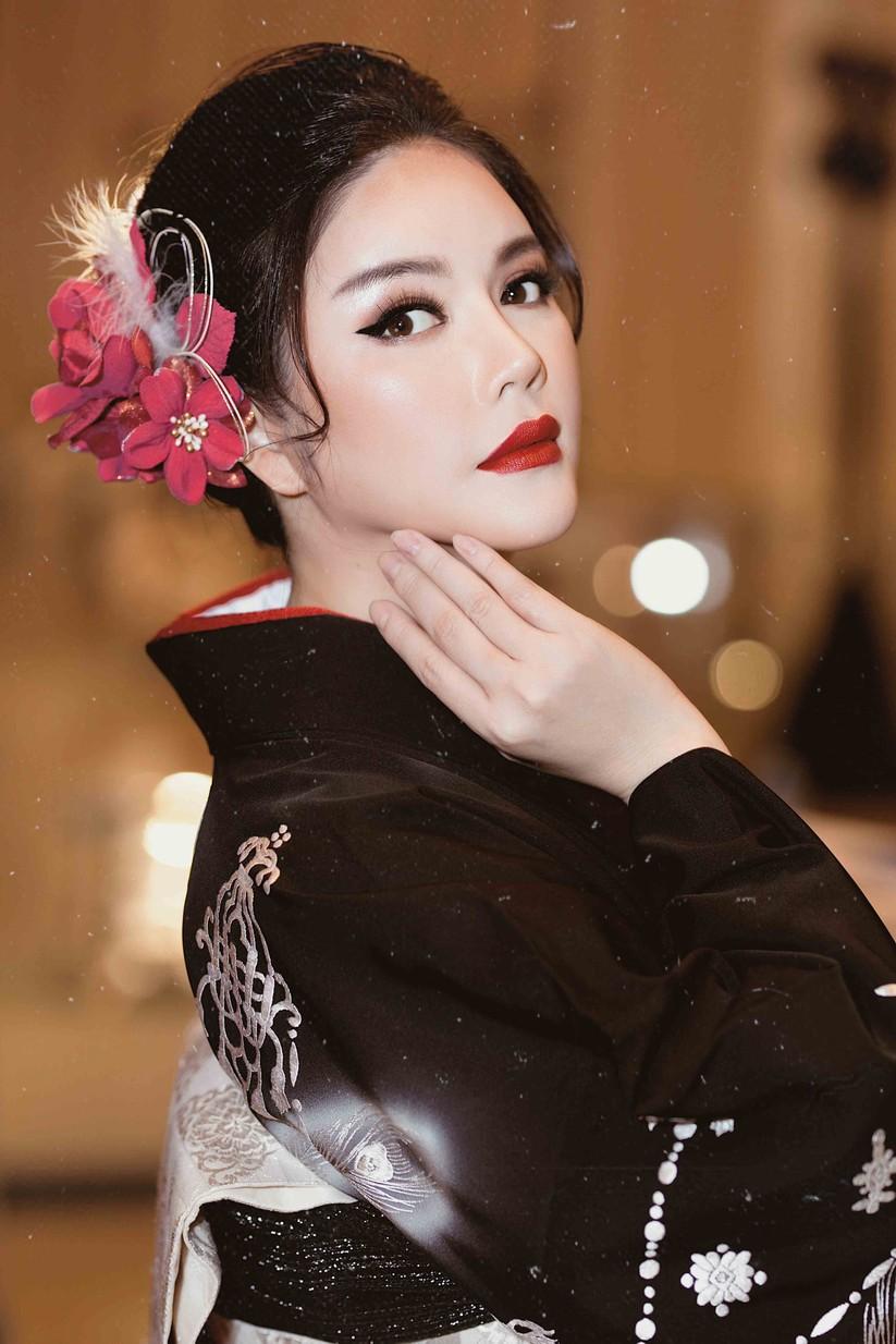 Lý Nhã Kỳ mặc Kimono làm vedette trong show của nhà thiết kế Nhật Bản ảnh 3
