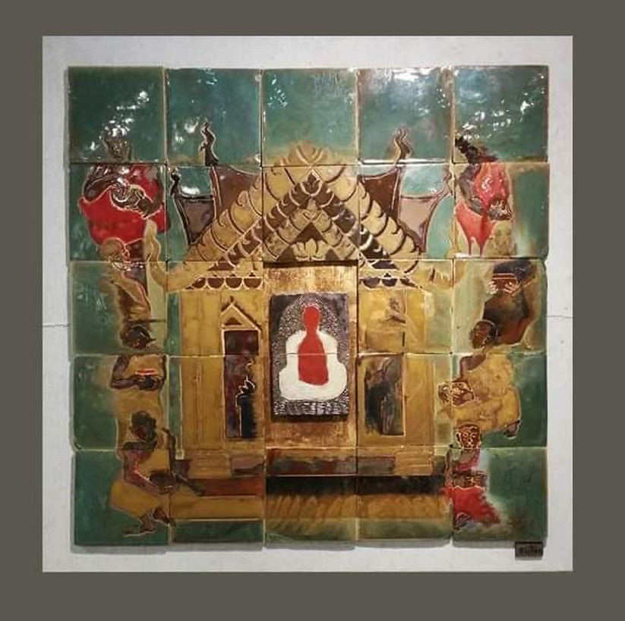 Tác phẩm Gốm của họa sĩ Nguyễn Quang Hoàng