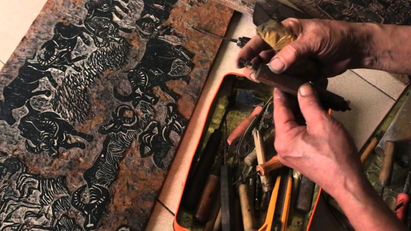 Kỹ thuật khắc gỗ của họa sĩ Trần Nguyên Đán