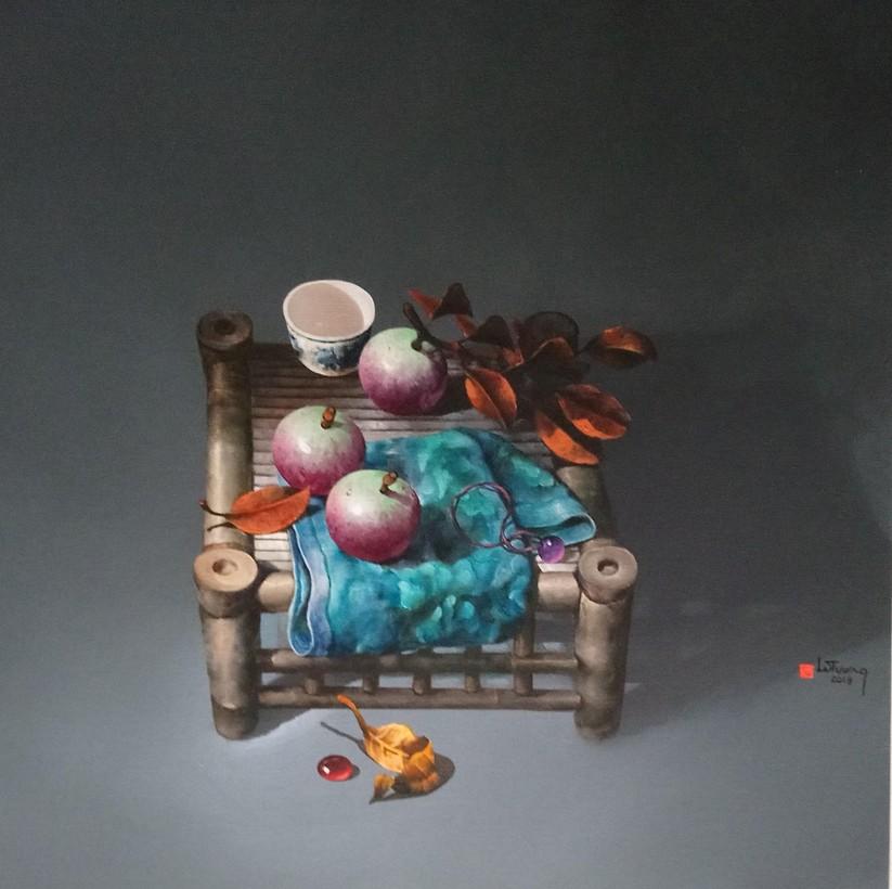 3. TĨNH VẬT, HS Lê Tường, CL: Acrylic trên canvas, KT: 70cmx70cm. Năm 2019