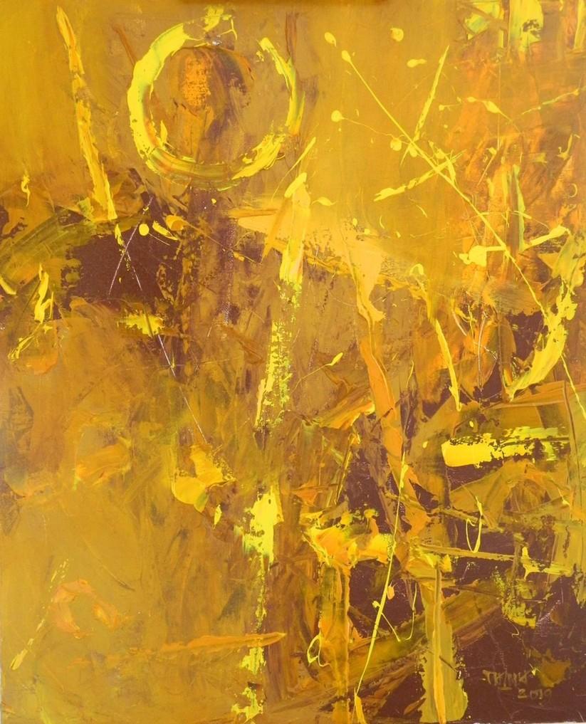 XUÂN VÔ TẬN. HS Trần Vĩnh Thịnh. CL: Acrylic trên canvas KT: 90 x 110cm. Năm: 2019