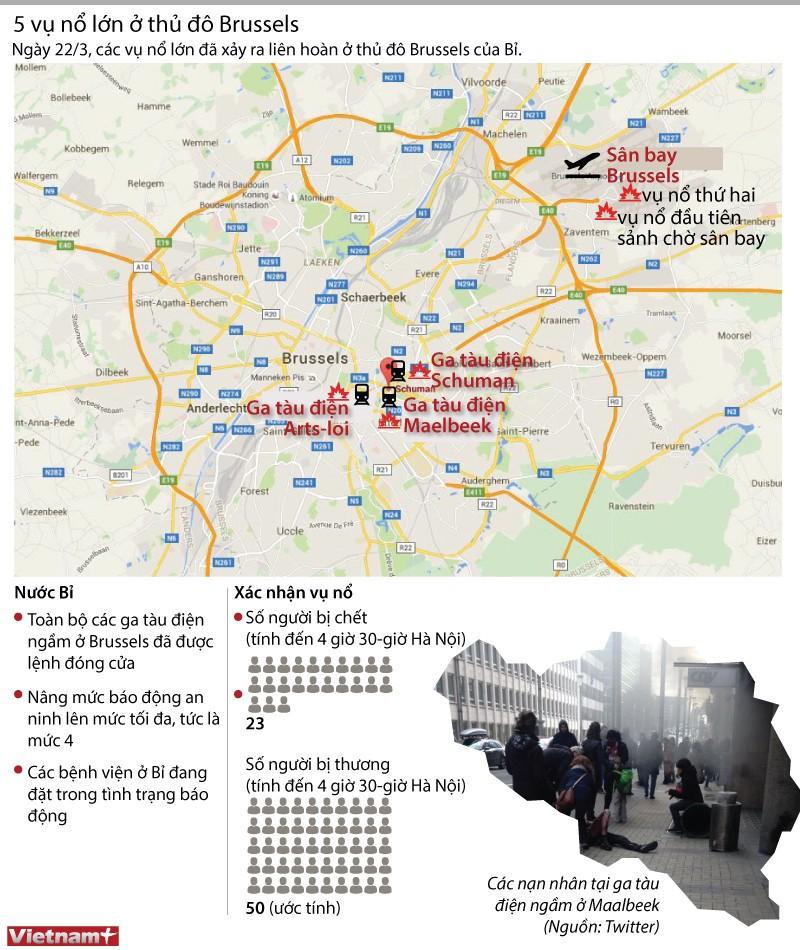 Nước Bỉ rung chuyển sau hàng loạt vụ nổ kinh hoàng ảnh 1