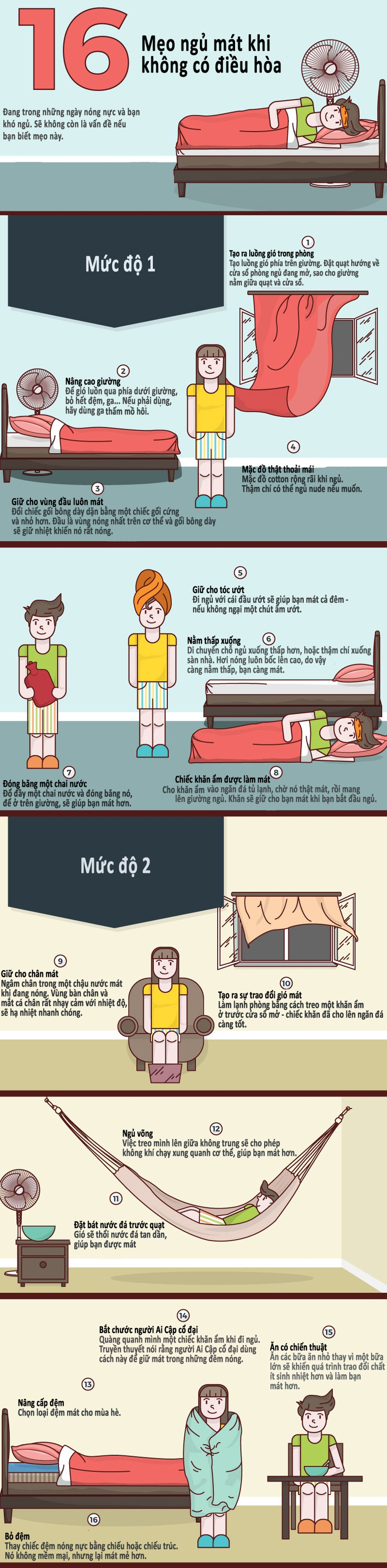 16 mẹo ngủ mát khi không có điều hòa ảnh 1