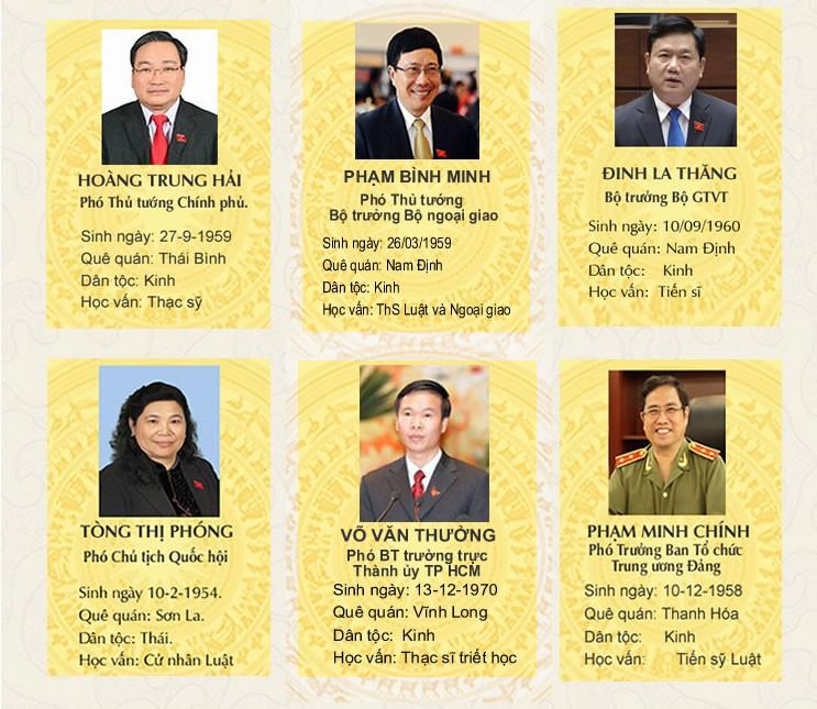 Chân dung Tổng Bí thư và các Ủy viên Bộ Chính trị, Ban Bí thư khóa XII ảnh 3
