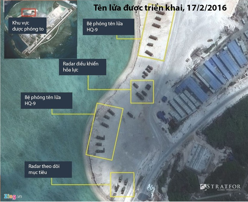 Cận cảnh HQ-9 và cơ sở quân sự phi pháp của TQ ở đảo Phú Lâm ảnh 2